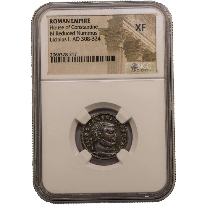 Roman AE of Licinius 1st (AD 308-324) NGC (XF) - HMint Precious Metals