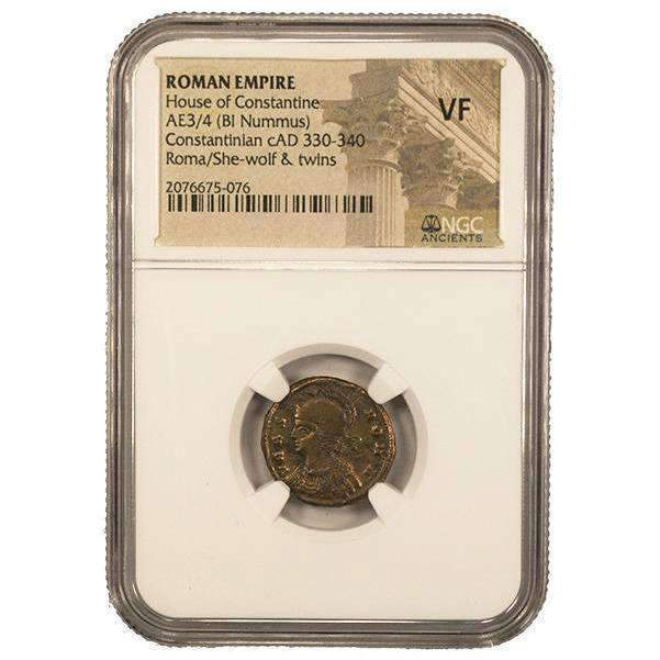 Roman AE of Urbs Roma (AD 330-346) NGC (VF) - HMint Precious Metals