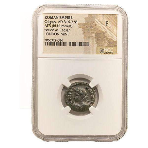 Roman AE3 of Crispus (AD 304-326) NGC-London Mint (F) - HMint Precious Metals