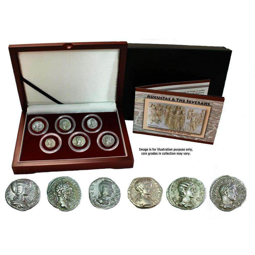 Rome's Three Julias : Severan Dynasty Box of 6 Silver Coins - HMint Precious Metals