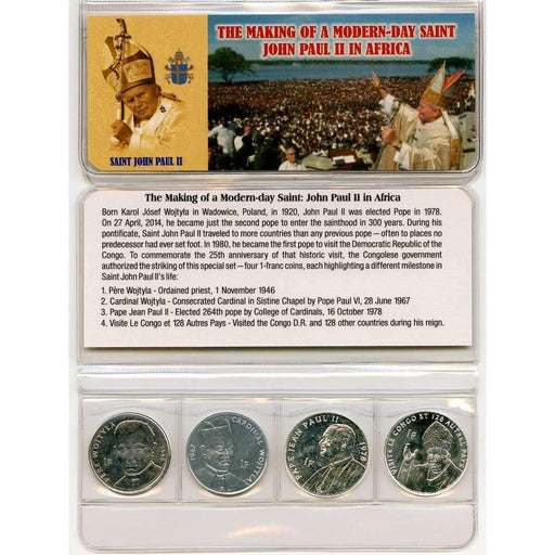 Saint John Paul II Four Coins of the Congo Mini - HMint Precious Metals