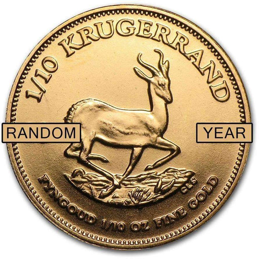 South Africa 1/10 oz Gold Krugerrand (Random Year) - HMint Precious Metals