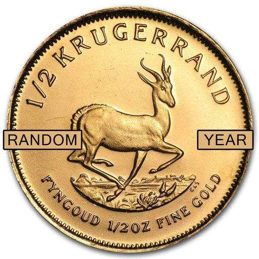 South Africa 1/2 oz Gold Krugerrand (Random Year) - HMint Precious Metals