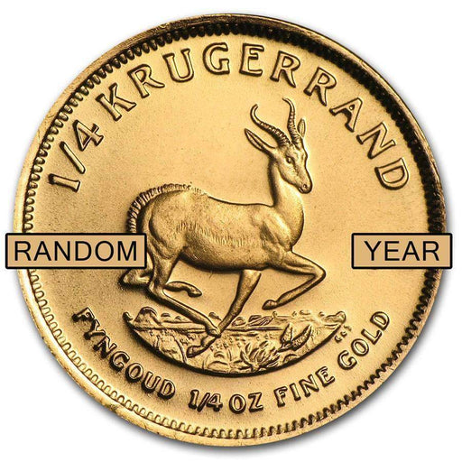 South Africa 1/4 oz Gold Krugerrand (Random Year) - HMint Precious Metals