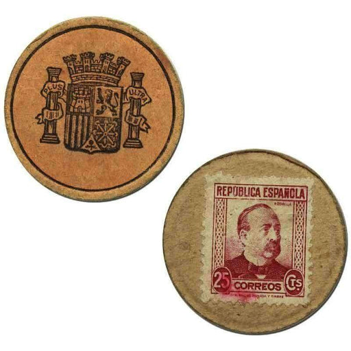 Spanish 25 Centimes Stamp Money - HMint Precious Metals