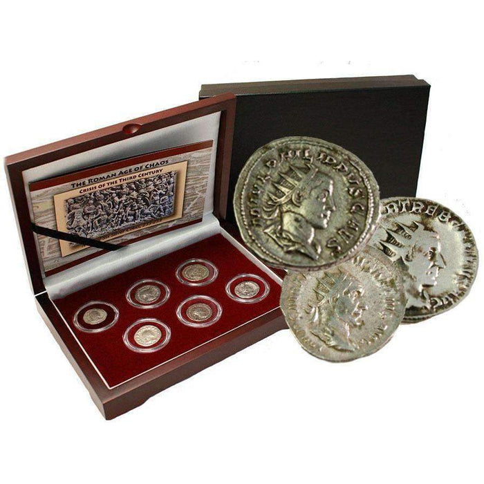The Age of Chaos: Box of 6 Roman Coins from the Crisis of Third Century - HMint Precious Metals