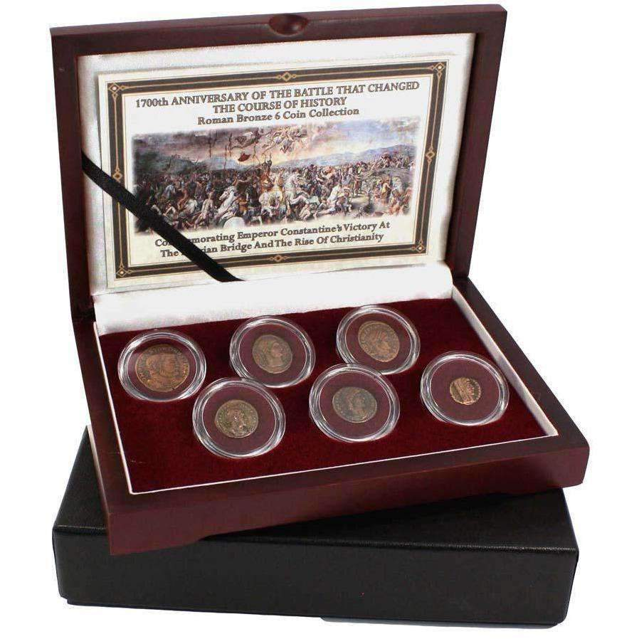 The Battle of the Milvian Bridge: Constantine the Great's Roman Bronze 6-Coin Box - HMint Precious Metals