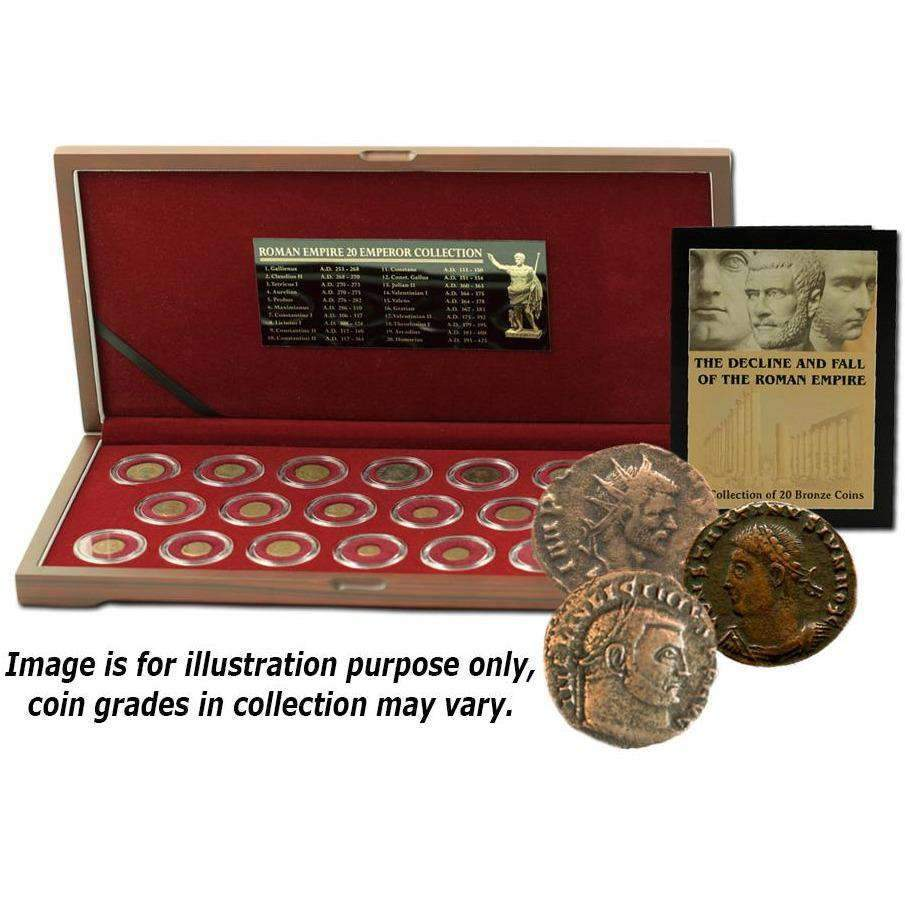 The Decline and Fall of the Roman Empire: 20 Bronze Coins of Ancient Rome - HMint Precious Metals