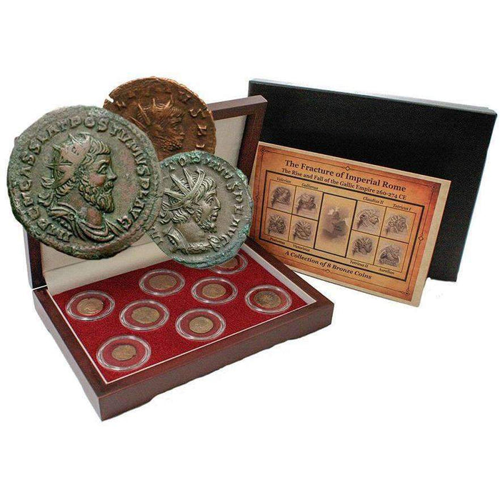 The Fracture of Imperial Rome: Gallic Empire (8 Bronze Coins) - HMint Precious Metals