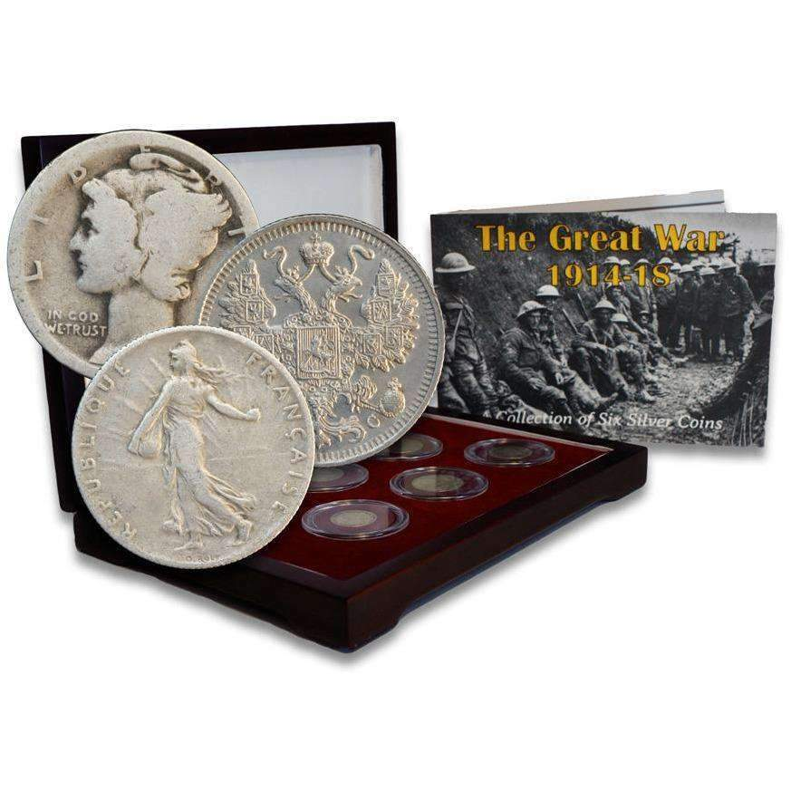 The Great War Box: 6 Silver Coins from the First World War (WWI) - HMint Precious Metals
