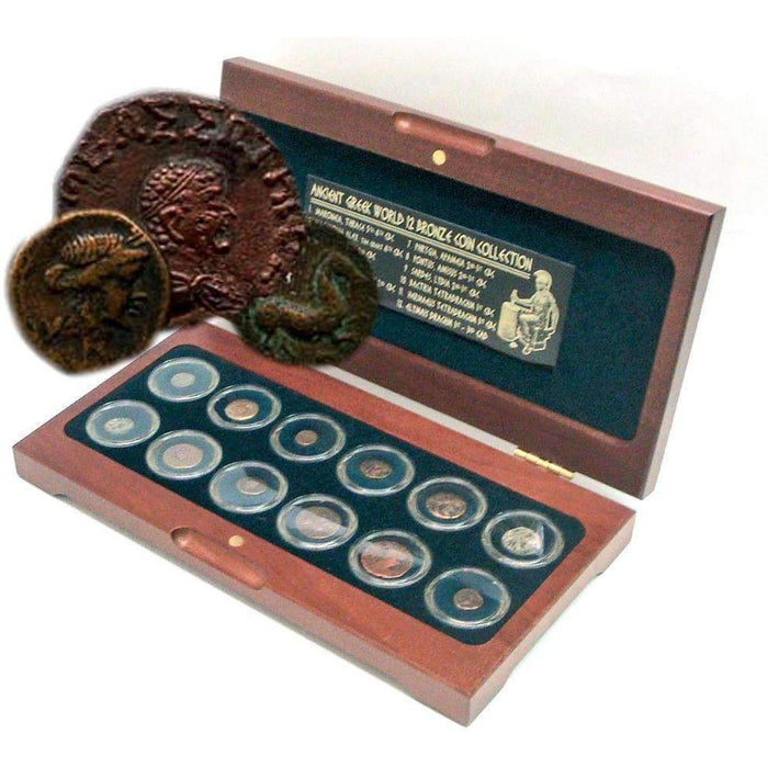 The Greek World: Box of 12 Bronze Coins from the Time of Ancient Greece - HMint Precious Metals