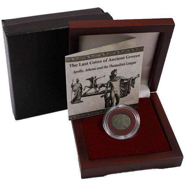 The Last Coins Of Ancient Greece Box: The Thessalian League with Coin of Apollo/Athena - HMint Precious Metals