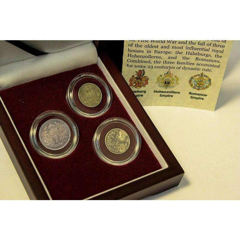 The Last Royal Houses Of Europe: Box of 3 Silver Coins - HMint Precious Metals