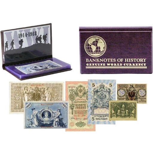 The Shot Heard Round the World: WWI 6 Banknote Collection Folio - HMint Precious Metals