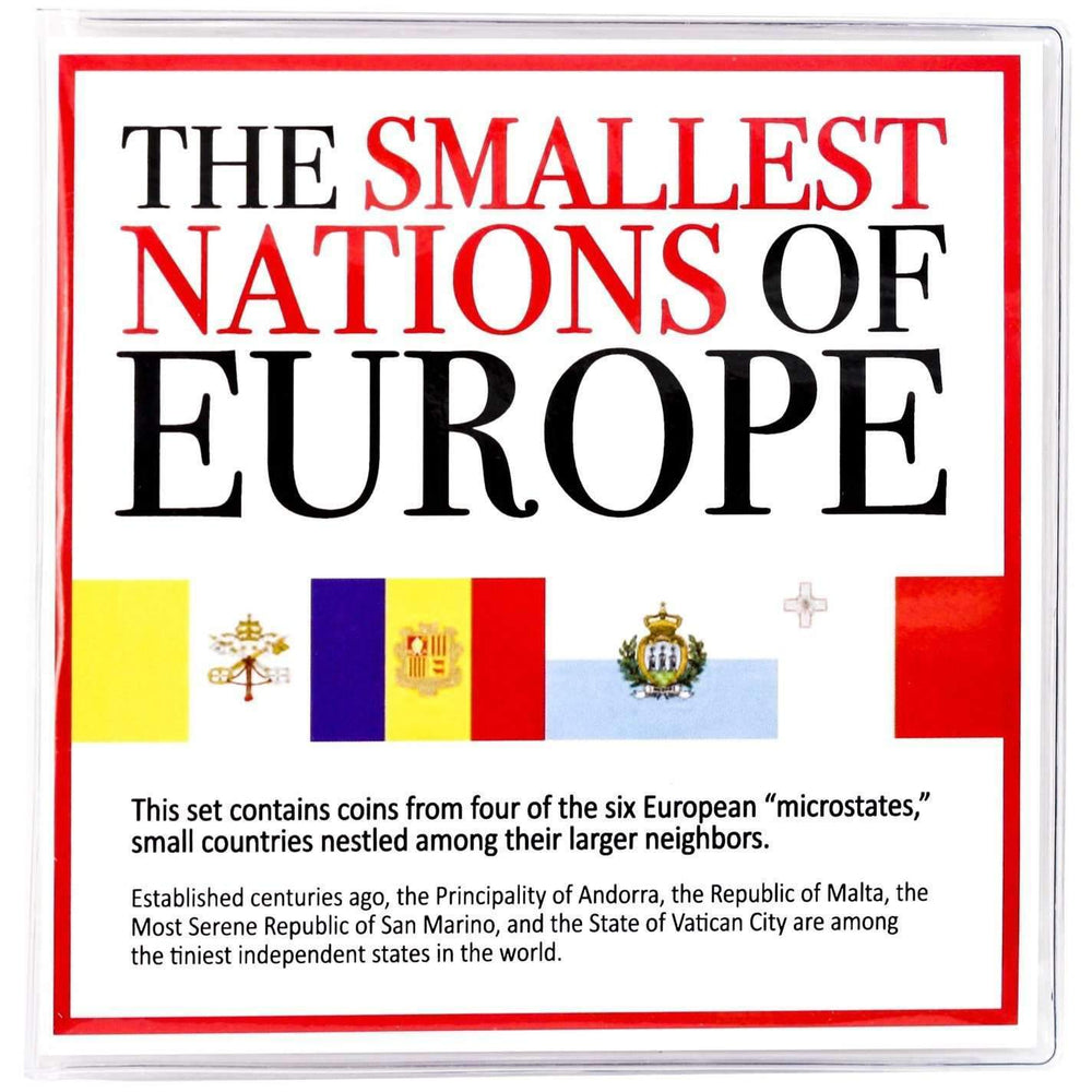 The Smallest Nations of Europe 4 Coin Collection in Mini Album - HMint Precious Metals