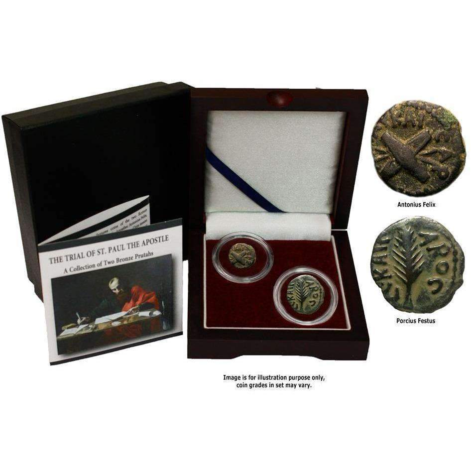 Trials of St. Paul: Box of 2 Ancient Bronze Coins - HMint Precious Metals