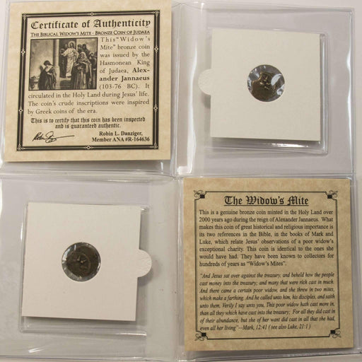Widow's Mite Bronze Prutah Coin Mini Album (C+) (Low Grade) - HMint Precious Metals
