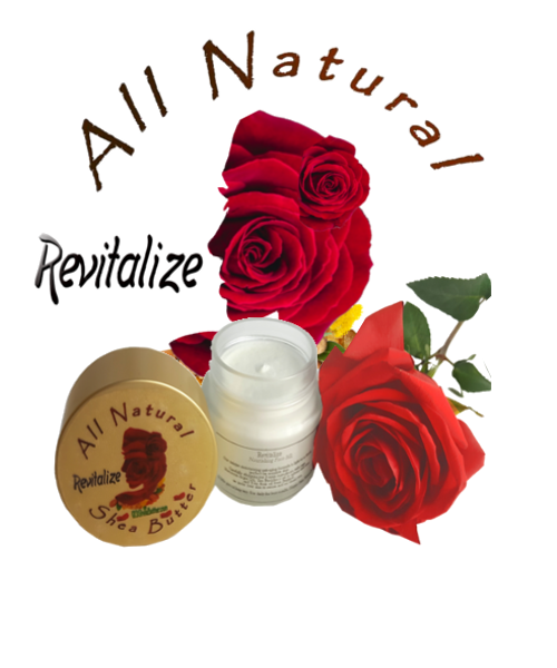 Revitalize Shea Butter Face Silk Glass Jar
