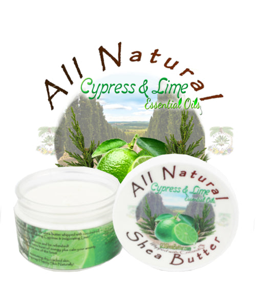 Cypress and Lime Shea Butter 4oz. Jar