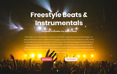 Freestyle Beats & Instrumentals Website