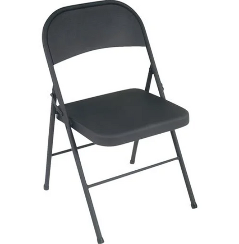COSCO ALL STEEL FOLDING CHAIR BLACK (COS14-711-005X)