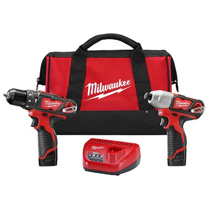 MILWAUKEE M12™ CORDLESS LITHIUM-ION 2-TOOL COMBO KIT (M2497-22) + FREE TICK!