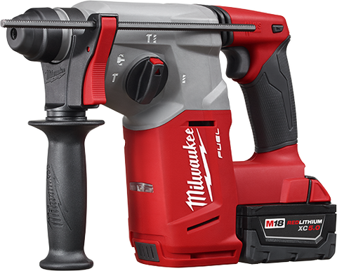 "MILWAUKEE M18 FUEL 1"" SDS+ ROTARY HAMMER KIT (M2712-22) + FREE TICK!"