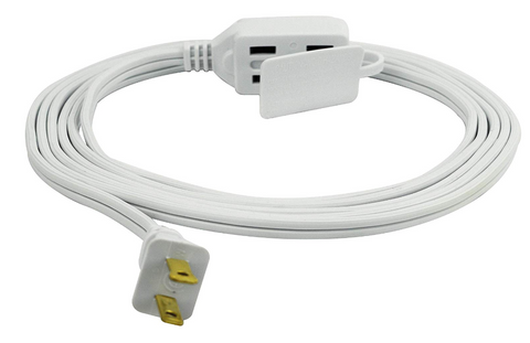 PRIME 6FT 16/2 SPT2 WHITE 3 OUTLET HOUSEHOLD EXTENSION CORD (PMW0EC660606)