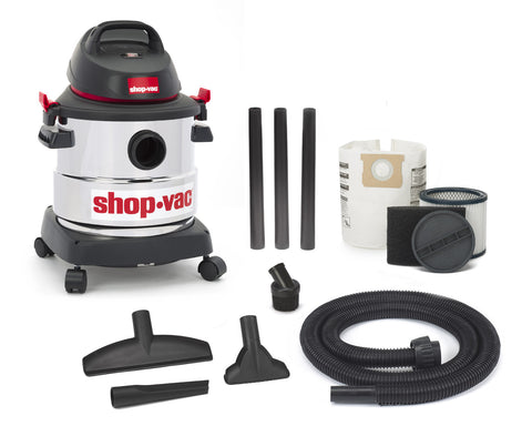 SHOP-VAC 5 GALLON 3.0 PEAK HP STAINLESS VACUUM (SV597-70-36)