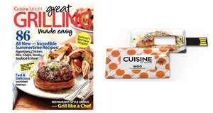 Ultimate Grilling Collection USB Drive Plus Great Grilling Made Easy Cookbook