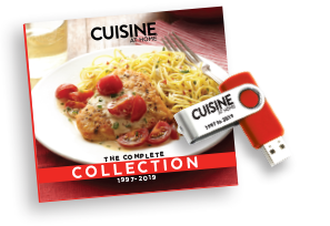 Cuisine at Home Back Issue Library 2019 USB Drive