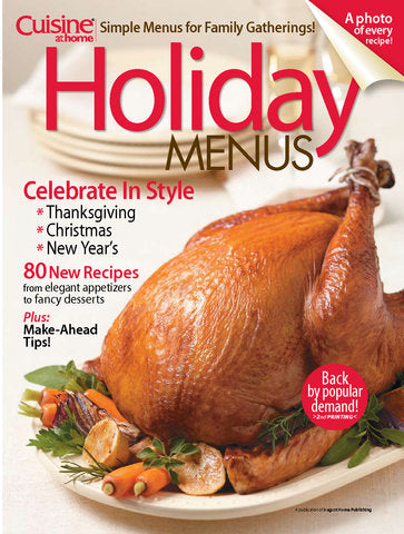 Holiday Menus, Volume 1