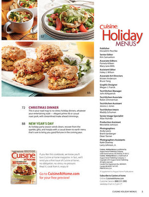 Holiday Menus, Volume 3