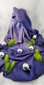 Merino wool shawls in purple (limited edition)