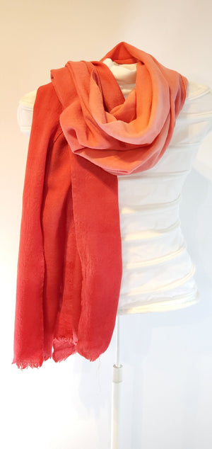 Merino wool shawls in red (limited edition)