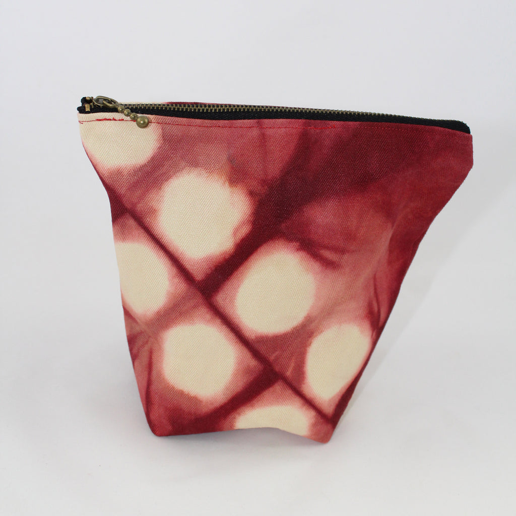 Zipper pouch- Red Spots