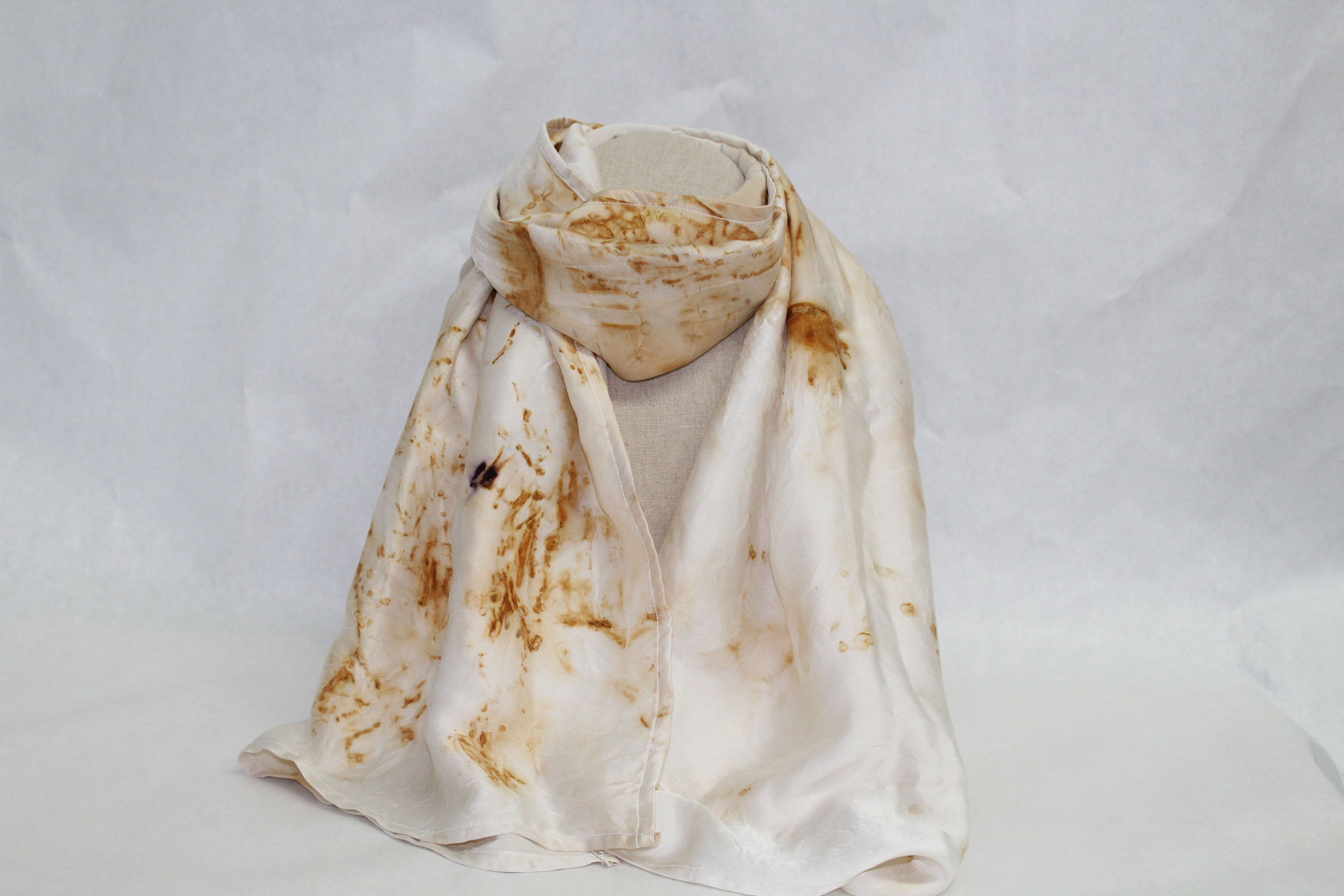 Reduced to clear! Saga Rust Dyed Scarf (Zero Waste)