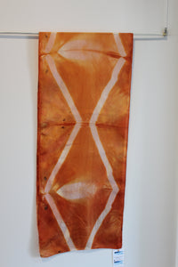 Silk Orange Diamond Scarf (Madder dyed)