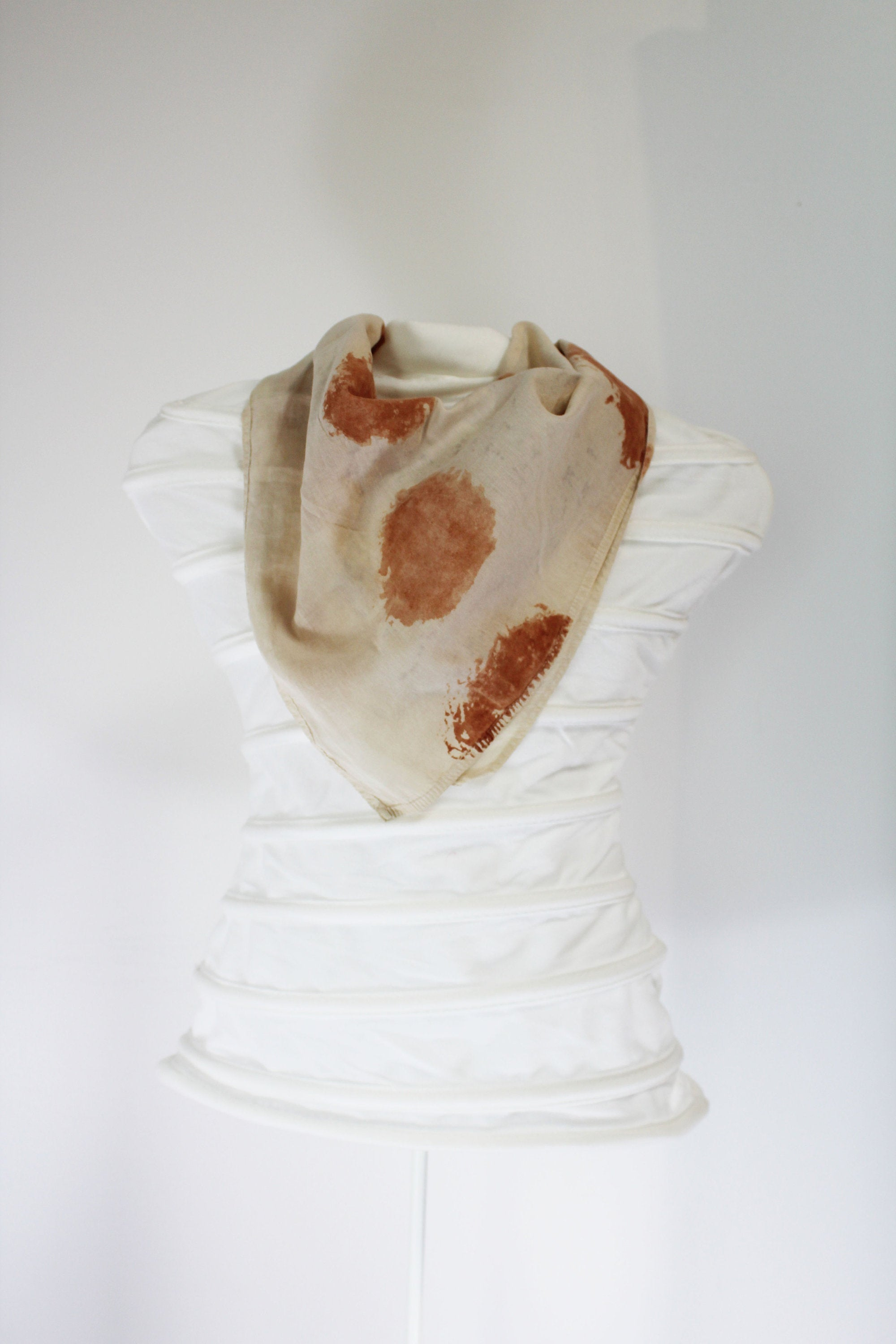 Organic Cotton hand painted earth pigment scarf