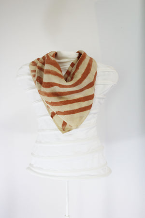 Hand Painted Organic Cotton Scarf- Striped