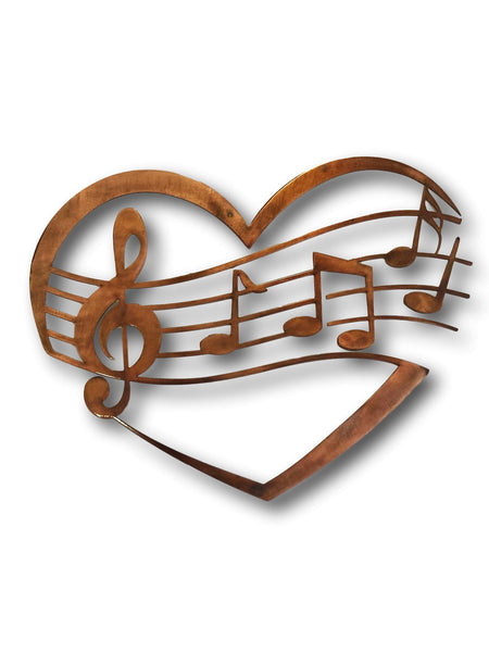 Music Notes and Treble Clef in Heart