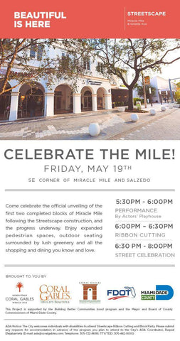 Miracle Mile Streetscape Party Downtown Coral Gables & Giralda Jae's Jewelers