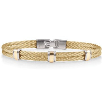 Gentlemen's Two-Tone Cable Bracelet