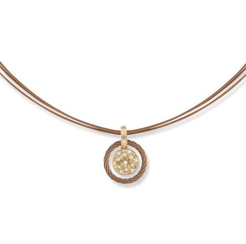 Petra Cable Necklace with Diamond Pendant