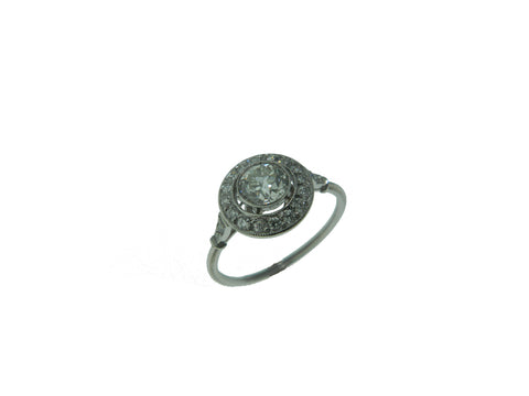 0.50ct Old European Cut Diamond in Vintage Style Ring