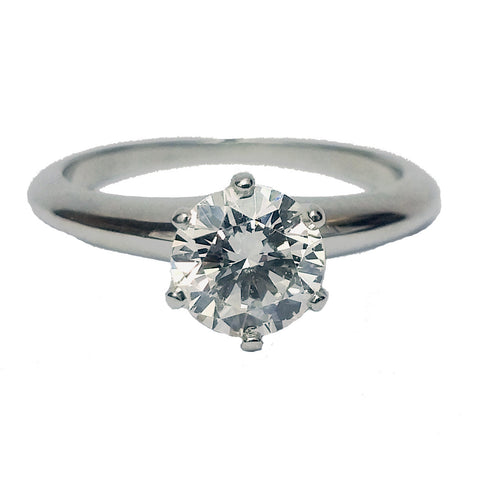 0.94ct Round Brilliant Cut Diamond Solitaire Ring