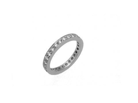Channel Set Eternity Band with Milgrain Accent