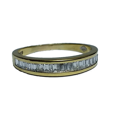 Baguette Channel Set Diamond Band