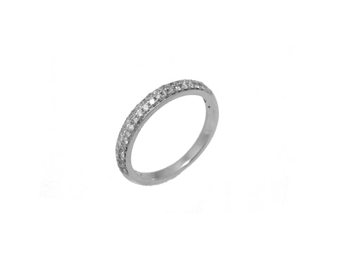 Micro Pave Double-Row Band