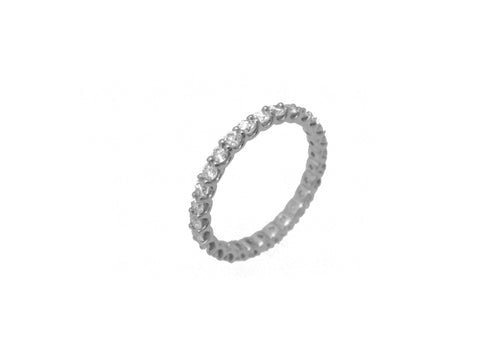 U-Mounting Diamond Eternity Band - 1.24 cttw